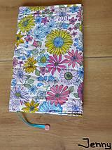 Papiernictvo - Obal na knihu - všade samé kvety - 6965794_
