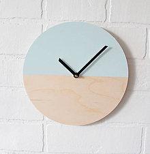 Hodiny - Nástenné hodiny Mentolový minimalizmus - 6964321_