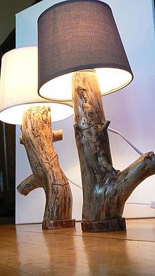 Svietidlá a sviečky - Lamp by pine - lampa z borovicového dreva (predané) - 6964302_