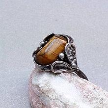 Prstene - Prsten s Tygřím okem - 6966004_