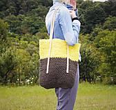 Špagátová taška žlto-hnedá