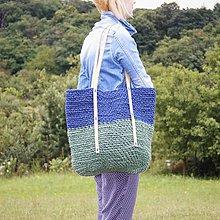 Veľké tašky - Špagátová taška modro-zelená - 6967218_