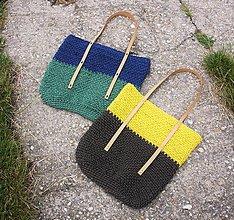 Veľké tašky - Špagátová taška modro-zelená - 6967222_