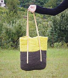 Veľké tašky - Špagátová taška žlto-hnedá - 6967231_