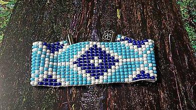 Náramky - náramok - modré nebo - 6968911_