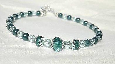 Náramky - Smaragdové variácie VI - 6966142_