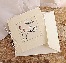Papiernictvo - LITTLE FLOWERS svadobné oznámenia - 6969365_