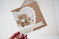 Papiernictvo - Natur - svadobná scrapbook pohľadnica - 6967168_
