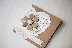 Papiernictvo - Natur - svadobná scrapbook pohľadnica - 6967169_