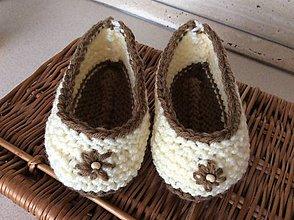 Topánočky - pletené papučky - 6967615_