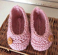 Topánočky - pletené papučky - 6967659_