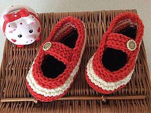 Topánočky - pletené papučky - 6967696_