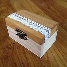 Prstene - Drevená krabička na obrúčky - 6966302_