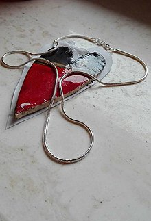Iné šperky - Postriebrená retiazka Snake - 6967600_