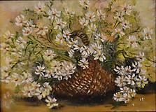 Obrazy - Kvety v košíku - 6968553_