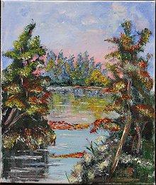 Obrazy - Stromy pri rieke - 6968595_