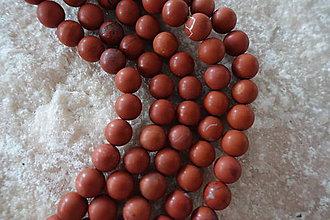 Minerály - Jaspis červený matný A 10mm - 6966685_