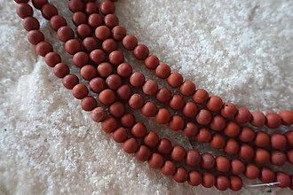 Minerály - Jaspis červený matný 6mm - 6966722_