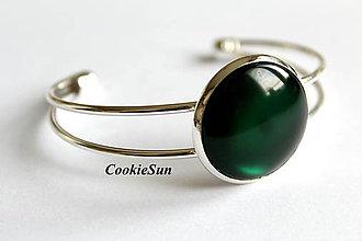 Náramky - Glamour Emerald (Náramok 25mm) - 6967258_