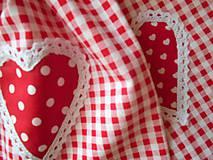 Úžitkový textil - Kárované červené vrecúška - 6968924_