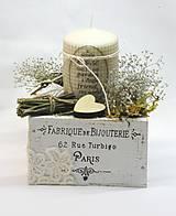Dekorácie - Vintage dekorácia so sviečkou - 6967223_