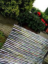 Úžitkový textil - Koberec zeleno čierny 104x73cm - 6968271_