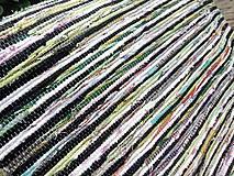 Úžitkový textil - Koberec zeleno čierny 104x73cm - 6968274_