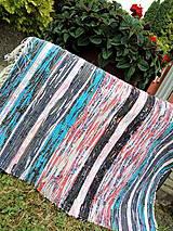 Úžitkový textil - Rohožka modrá,čierna, ružová 85x72cm - 6968303_