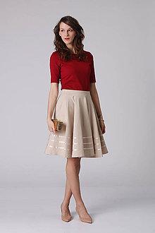 Sukne - Kruhová sukňa so saténovými pásmi - 6972956_
