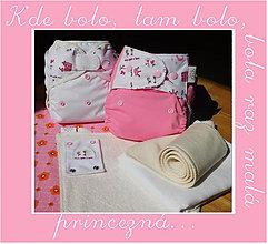 Detské doplnky - Pre malú princeznú - sada látkových plienok - 6969760_