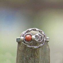 Prstene - Obláček a zlatý aventurín (prsten) - 6970241_