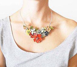 Náhrdelníky - folk flowers-kvetinovy náhrdelník - 6972158_