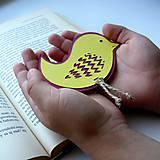 Papiernictvo - Vtáčatko žlté do knihy... - 6972999_