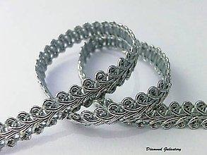 Galantéria - Lemovka strieborná 10 mm - 6969782_
