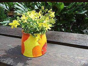 Nádoby - Nádobka kvetná - 6971551_