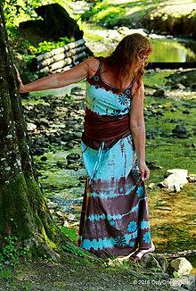 Sukne - Sukňa batikovaná, maľovaná, etno NEVÄDZA - 6970069_