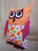 Úžitkový textil - vankúšik (vankúš) sovička Matilda - 6970648_