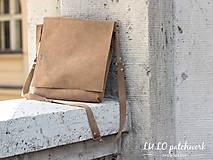 Kabelky - Taška z brúsenej kože - 6970028_