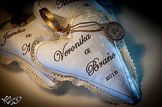 """Dekorácie - Svadobné srdiečko """"Veronika a Braňo"""" - 6976052_"""