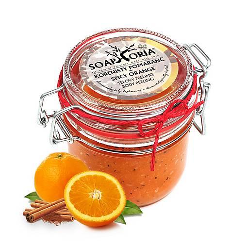 Korenistý pomaranč - organický soľný telový peeling