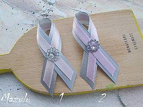 Pierka - svadobné pierko v sivoRužovom - 6975207_