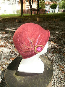 Čiapky - Bordo klobúčik - 6974377_