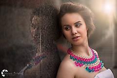 """Náhrdelníky - farebný náhrdelník candy cotton - """"sweet candy"""" - 6976042_"""