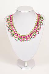 """Náhrdelníky - farebný náhrdelník candy cotton - """"sweet candy"""" - 6976235_"""