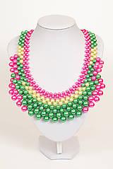 """Náhrdelníky - farebný náhrdelník candy cotton - """"sweet candy"""" - 6976320_"""