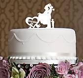 Darčeky pre svadobčanov - ozdoba na tortu - Mr&Mrs + chlapec - 6974421_