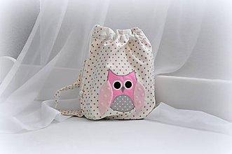 Detské tašky - Ruksak, batôžtek sovička 35X27 - 6973940_