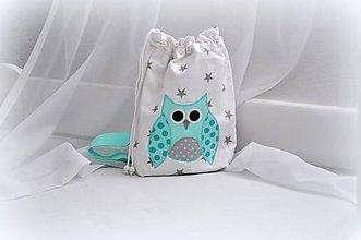 Detské tašky - Ruksak, batôžtek mentolková sovička - 6973956_