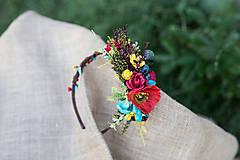 Ozdoby do vlasov - Letná kvetinová čelenka