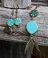 Náhrdelníky - Tyrkysový náhrdelník - travertín - 6973810_